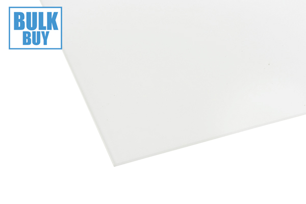 Cast Acrylic Sheet Opaque White 1000 x 600 x 3mm Pack of 12