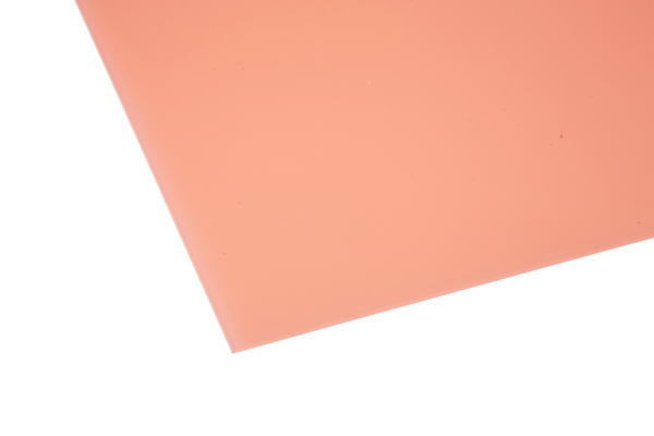 Cast Acrylic Sheet Frost Pink 600 x 400 x 3mm – Central